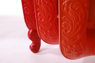 Decorative red cast-iron radiator
